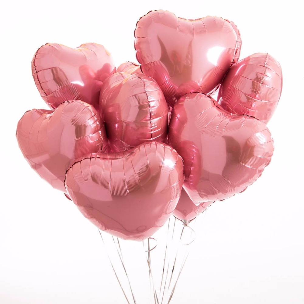 ᐃ18inch Rose Gold Heart Foil Balloons Wedding Decoration for ...