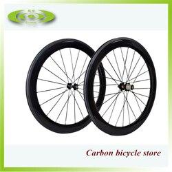 Hoogwaardige 60mm carbon clincher wielset 700c wielen fietswielen goedkope cabon wiel
