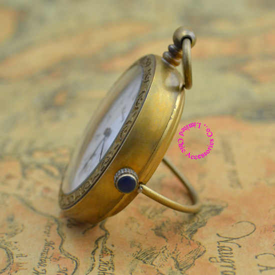 wholesale buyer price good quality special retro vintage classic standing stand copper brass mechanical pocket watch