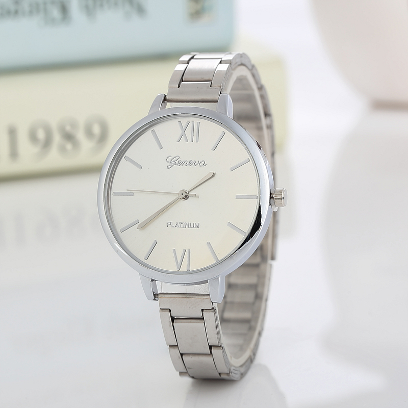 New Famous Brand Silver Casual Geneva High Quality Quartz Watch Women Fine Steel Strip Dress Watches Relogio Feminino Hot sale wristwatch new famous brand binger geneva casual quartz watch men stainless steel dress watches relogio feminino man clock hot