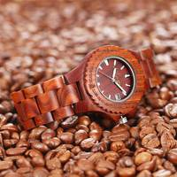 Wrist Quartz Watch Wooden Round Fashion Durable Creative For Women Girl Men Student TT@88