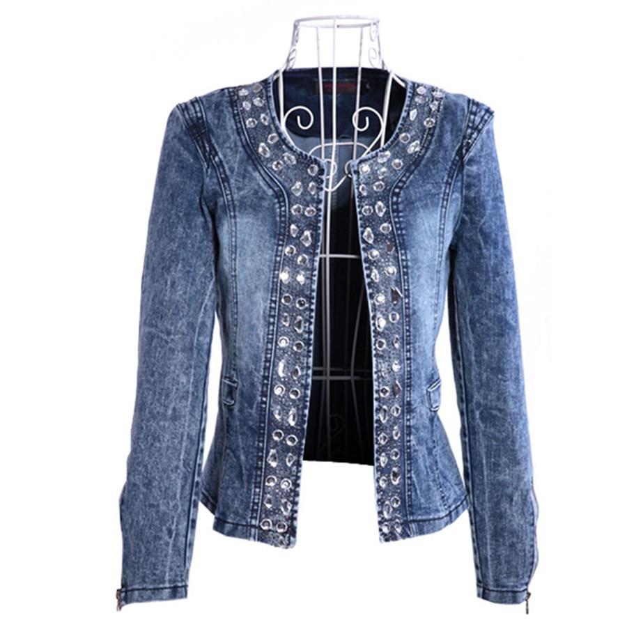 Popular Rhinestone Jean Jacket-Buy Cheap Rhinestone Jean Jacket lots from China Rhinestone Jean ...