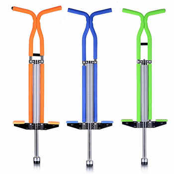 Adults/Children High Quality Steel Chrome Plated Jump Pogo Stick Double/Single Pole Bouncer with Lights Max Bearing 60kgs - DISCOUNT ITEM  13% OFF Sports & Entertainment