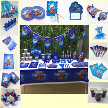 birthday party decorations spiderman Spider-Man Childrens Party Cutlery Series Decorations happybir