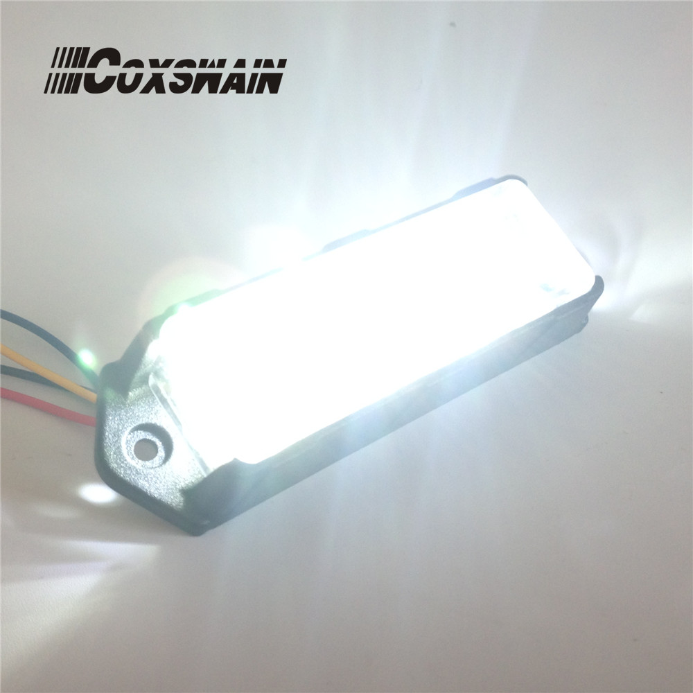 ÇİFT RENK Araba LED Izgara Yüzey Montaj flaş ışığı, 6 * 3W - Güvenlik ve Koruma - Fotoğraf 2
