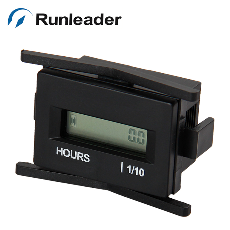 RL-HM010A Waterproof digital DC 4.5-60V Hour Meter for tractor Marine ATV Motorcycle Snowmobile jet ski LAWN MOWER-RL-HM010A