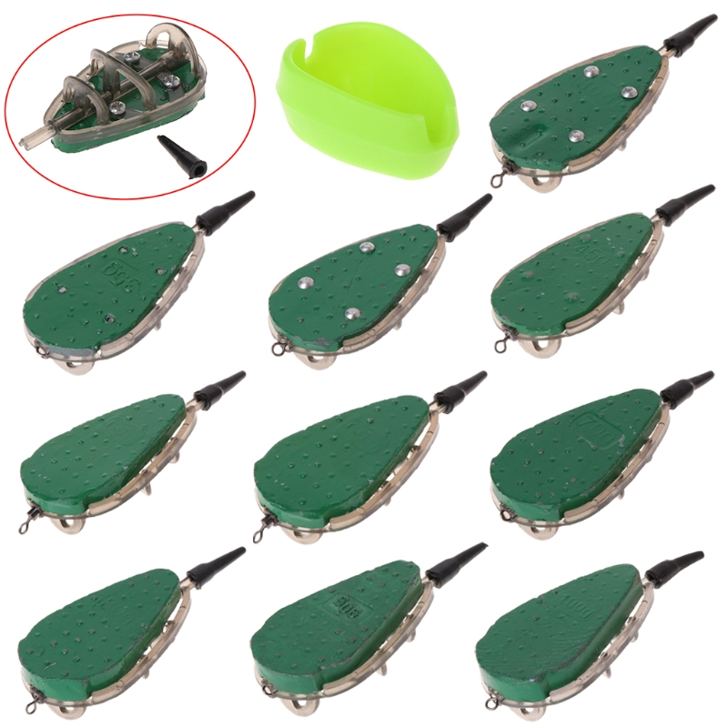 Fishing Feeder With Mould Carp Lead Sinker Method Bait Lure 30g-100g Accessories #0706