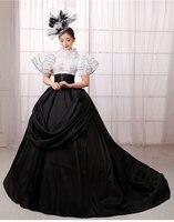 2016 New Arrival European Court Dress Queen Halloween Costume Gothic Renaissance Medieval Costume Mythic Fancy Dress