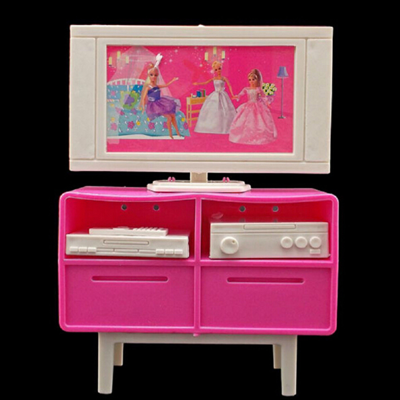 Baby Gifts Plastic Play TV Stand Cabinet 1/6 Scale For ...