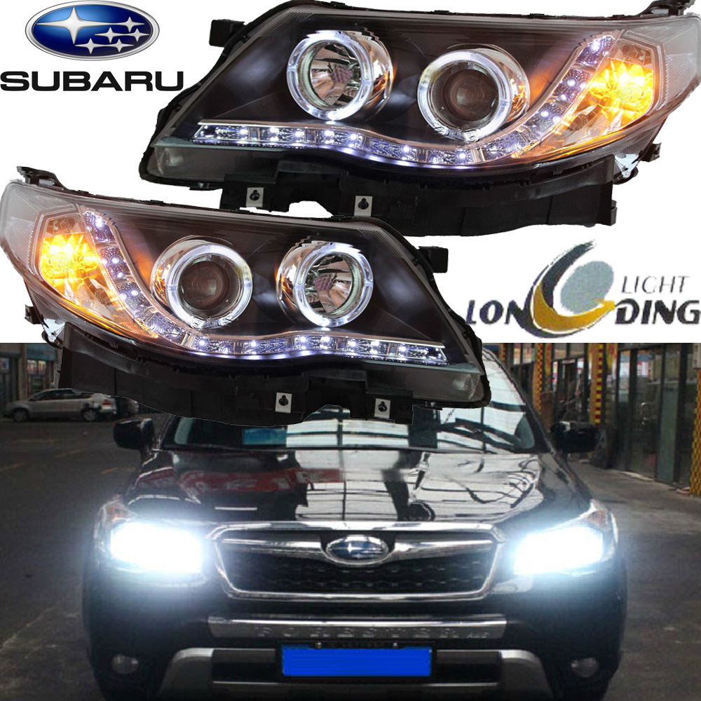 car-styling,Forester headlight,2008~2012,Free ship! Forester fog,chrome,LED,Forester head lamp,LEGACY цена и фото