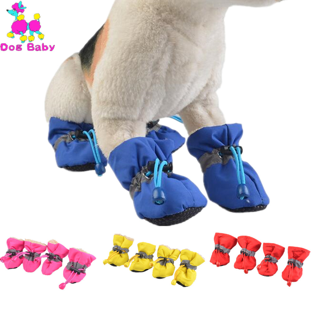 DOGBABY Soft Dogs Shoes Spring Winter Pet Foot Shoes Anti Slip Breathable Summer Shoes For Chihuahua Yorkshire 7 size 4 Colors