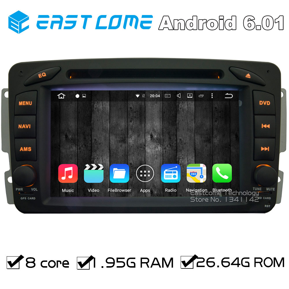 Octa core 8 core android 6 01 car dvd player for mercedes benz w203 s203 c209 w209