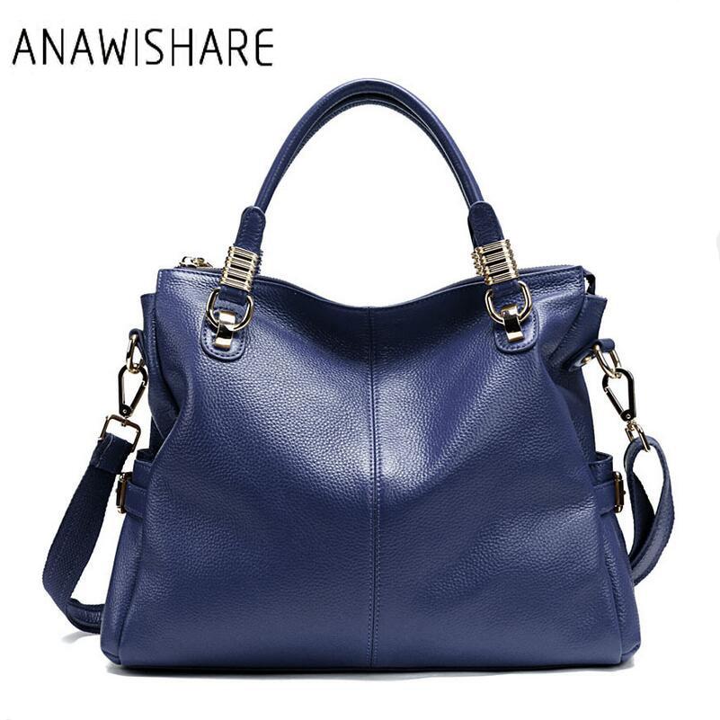 Women Genuine Leather Handbag Cowhide Real Leather Shoulder Bag Ladies Totes Cow Leather Crossbody Bag Bolsa Feminina