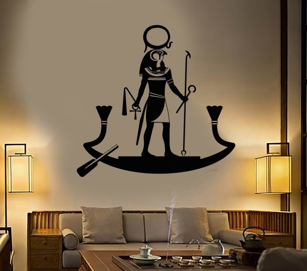 Ancient Egyptian God Ra Religion Egypt Wall Stickers Living Room Home Interior Decor Design Bedroom Vinyl Wall Mural Decal D544