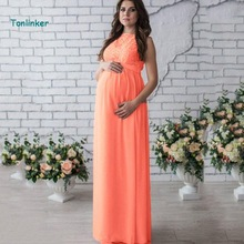 Tonlinker 2018 New sleeveless vintage sexy summer Lace photo pregnant dress maternity photography props maxi Maternity
