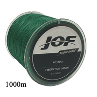 JOF Fishing Line 4 Strands 1000m 8 Colors PE Big Horsepower Fishing Line 8Weaves Strong Braided