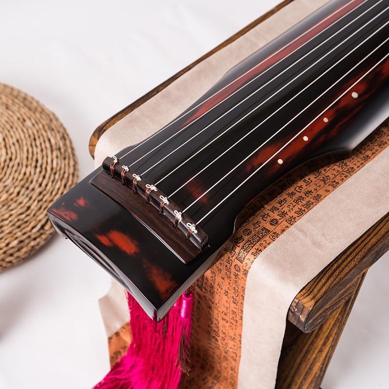 Guqin feuille type paulownia fuxi chaud-vente nylon fil chaîne zhongni type guqin universel