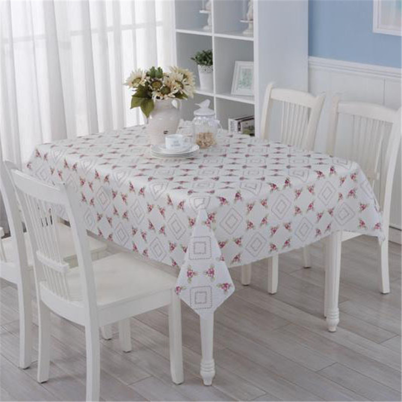 Fresh Style Red Plaid Pvc Tablecloth Rectangle Plastic Waterproof Oilproof Table Cloth Cover For Party Home Textile Decoration In Tablecloths From