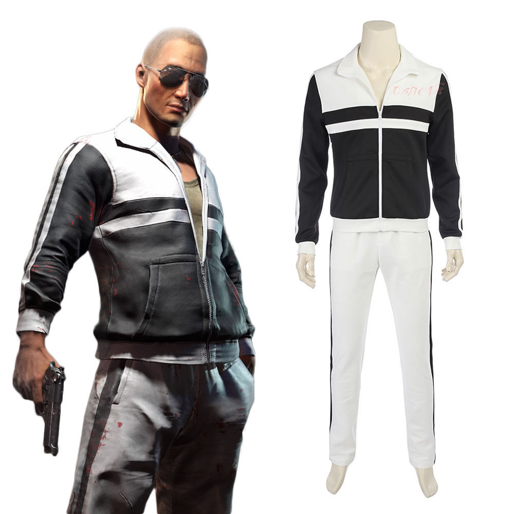 Cafiona Cool Man Sportswear PUBG PLAYERUNKNOWN'S BATTLEGROUNDS Cosplay Costume