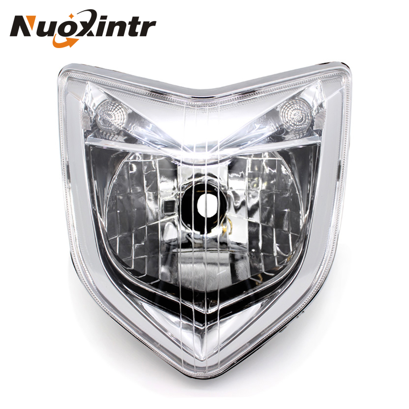 Nuoxintr Motorcycle Headlight Headlamp Front ABS Head Light For Yamaha FZ1 Fazer 2006 2007 2008 2009 motorcycle carbon ceramic brake pads for yamaha fz6 600 fazer s2 2007 2009 front oem new zpmoto