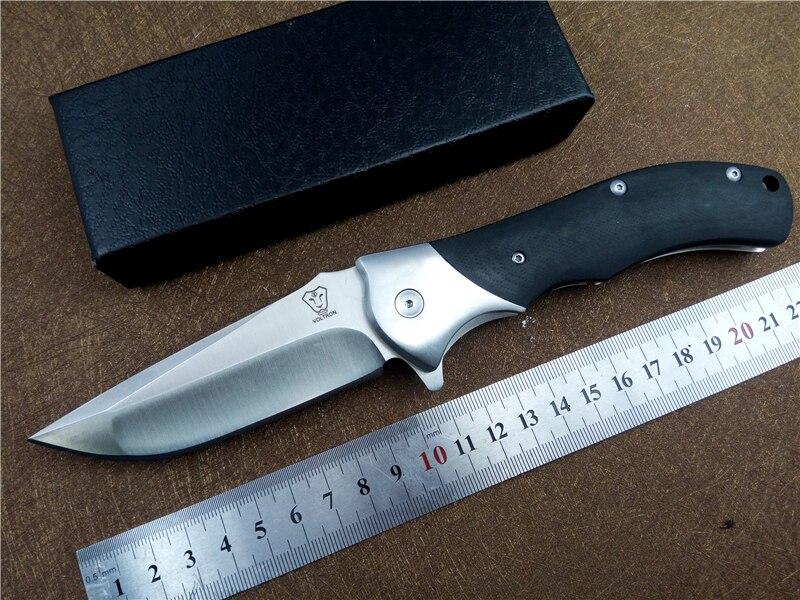 Calidad Voltron speeder utilidad supervivencia al aire libre plegable del cuchillo de caza que acampa cuchillo 9cr18 balde G10 mango cuchillo táctico