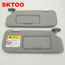 SKTOO sun visor for chevrolet Captiva with a make-up mirror sun visor Barndoor Sunshade gray