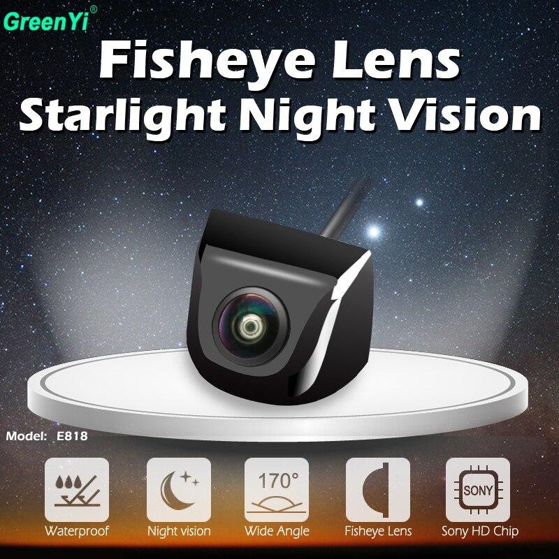170 grados HD Starlight de la visión nocturna de la lente de ojo de pez/Sony/MCCD Chip de reversa coche copia vista trasera Cámara del CCTV aparcamiento cámara