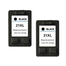 2PK черные картриджи для HP21XL для HP Deskjet D2460 F2110 F2120 F2128 F2140 D2330 D2345 D2360 D2340 D2445 D1530 D1558 D1560