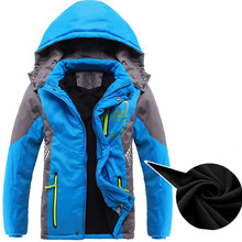 Children Outerwear Warm Coat Sporty Kids Clothes Waterproof Windproof Thicken Boys Girls Cotton-padd