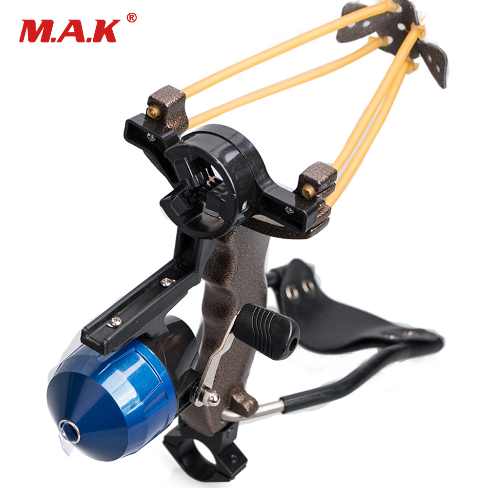 цены Outdoor Shooting Fish Slingshot with the Fishing Reel/Arrow Brush Rest/Flashlight Rack/Screws Set Archery Entertainment