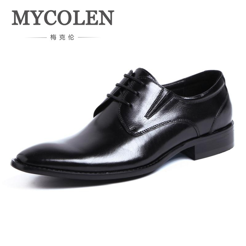 MYCOLEN Fashion Mens Dress Shoes Luxury Designer Wedding Shoes Man Pointed Toe England Style Male Lace Up Business Shoes fashion top brand italian designer mens wedding shoes men polish patent leather luxury dress shoes man flats for business 2016