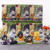 6pcs/set Naruto Cute Version Sasuke Uchiha Itachi Uzumaki Naruto Action Figure Japanese Anime Toys With Nice Package #E