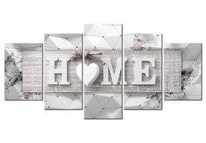 """Image 2 - Fezrgea 5D TỰ LÀM Tranh Gắn Đá """"Home Sweet Home"""" Full Tròn Khoan Nhiều hình Kết Hợp Thêu Hoa Khảm Nhà trang trí"""