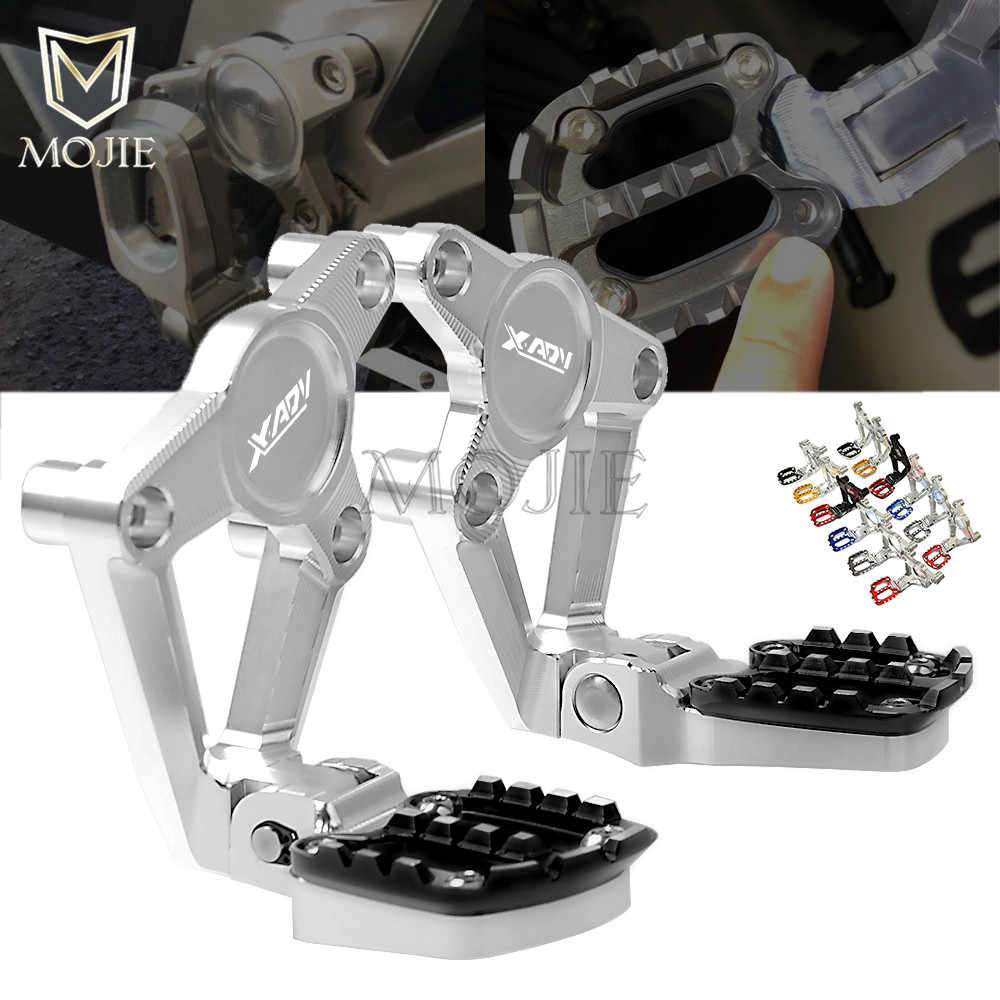 Color : Gray Cyclist store High-quality Accessories For Motorcycles Side Folding Footrest Stand Extension For HONDA X-ADV XADV 750 2017 2018