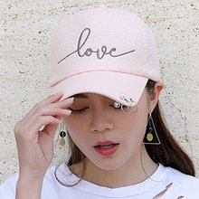 snapback cap Punk iron hoop Ring bead on visor love embroidery hat for  women baseball cap New arrival high quality Sun Summer 7881ada50665