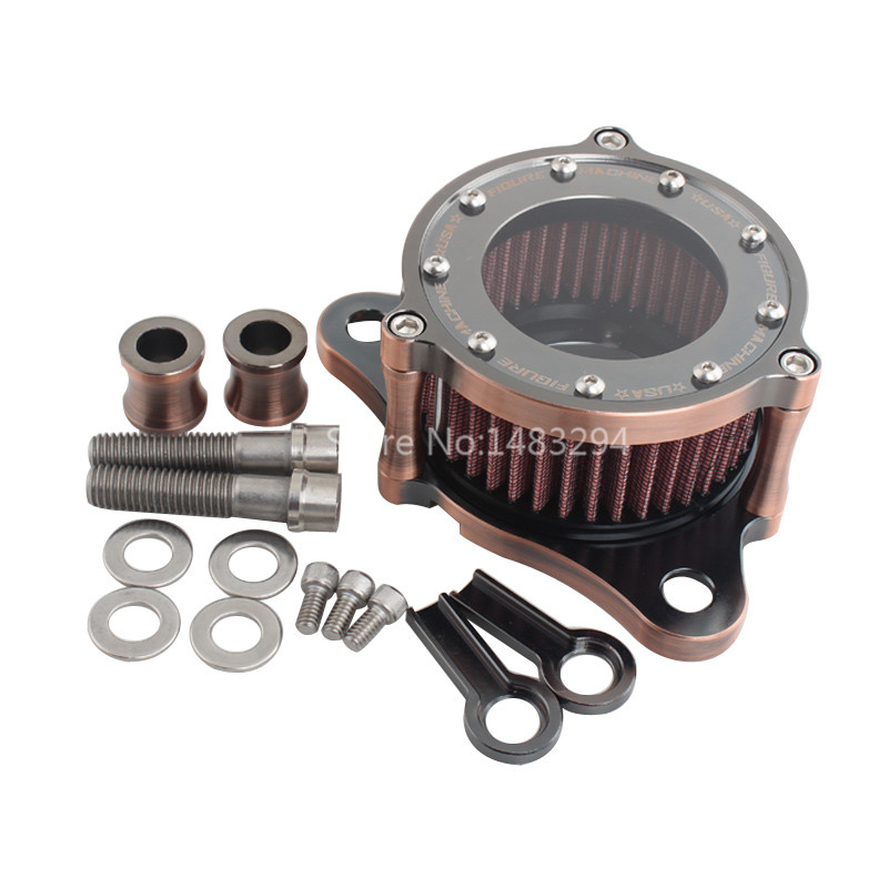 Aluminum Air filter Cleaner System Fits For Harley Sportster 1200 883 Copper Plated