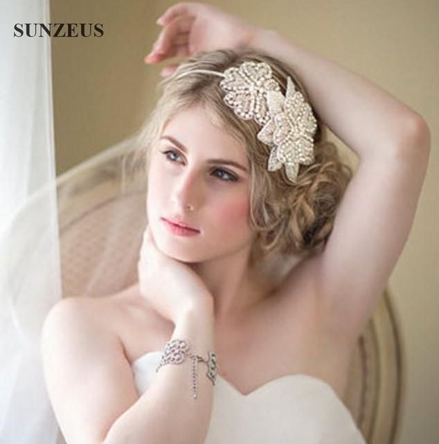 Sweet Princess Bridal Hair Accessories High Quality Hand Made Beaded Flowers Headpiece Acessorios Para Cabelo SQ054