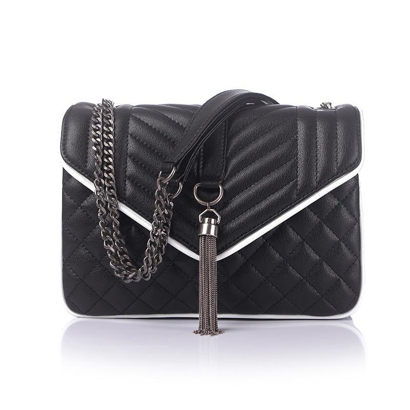 2017 Women's Designer Famous Brand Fashion Bags High Quality Genuine Leather Tassel Crossbody Bag Classic Lady Bag Free Shipping