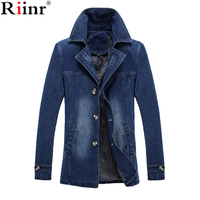 Riinr Fashion 2018 M 5XL Men Jean Jacket Clothing Denim Jacket Fashion Mens Jeans Jacket Thin Spring Autumn Outwear Male Cowboy