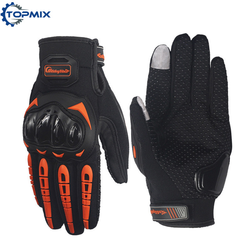 Screen Touch Motorcycle Gloves Orange