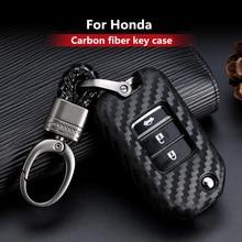 2019 חדש פחמן סיבי סיליקה ג ל מפתח כיסוי מקרה עבור הונדה 2016 2017 CRV פיילוט אקורד סיוויק רכב פגז אוטומטי מפתח keychain keyring