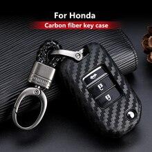 2019 Nieuwe Carbon Fiber Silicagel Key Cover Case Voor Honda 2016 2017 Crv Pilot Accord Civic Auto Shell Auto sleutel Sleutelhanger Sleutelhanger