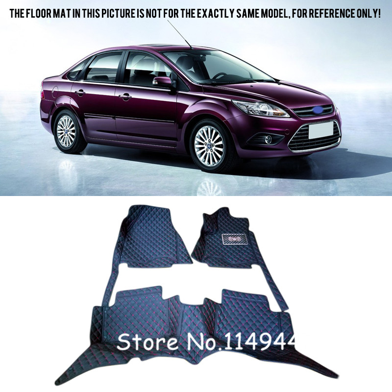 For Ford Focus 3 2012 - 2015 Interior Car styling Rugs Carpet Floor Mats Liners Carpets Full Set learning carpets us map carpet lc 201