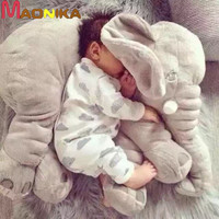 2016 New Arrival 60CM One Piece Gray Elephant Plush Doll With Long Nose Cute PP Cotton