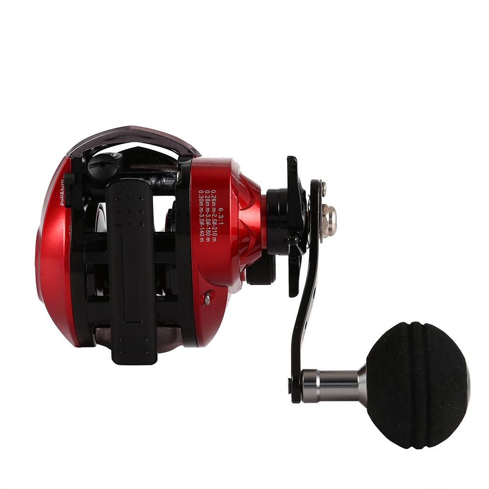 LIEYUWANG 13+1BB 6.3 : 1 Fishing Reel Baitcasting Reel Left / Right Hand Handle Bait Casting Reels Wheel Carp Fishing Saltwater