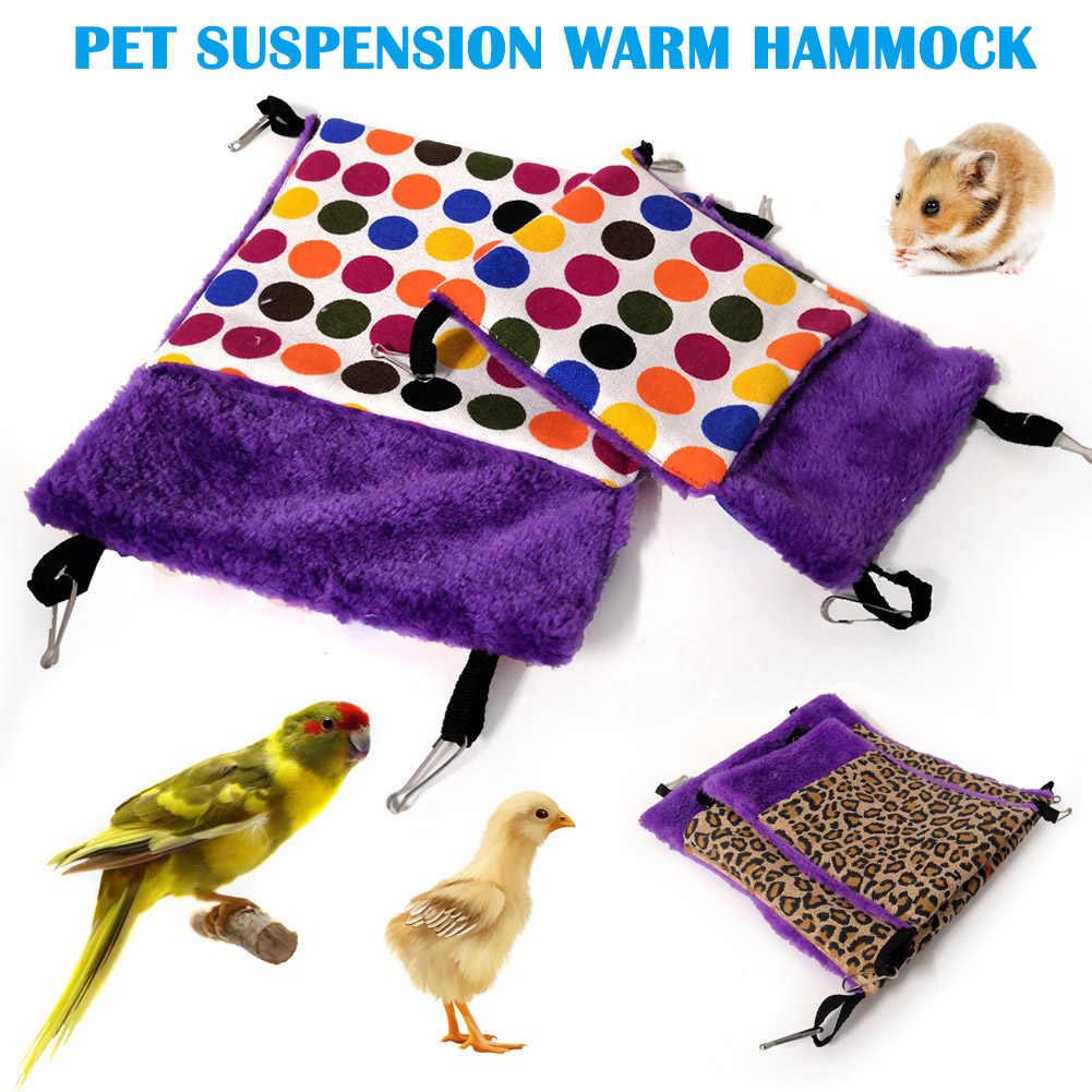 Hot Esquilo Hamster Rede Quente Ninho Pendurado Cama Gaiola de Pequenos Animais de Estimação Saco de Dormir Cor Aleatória FQ-ing