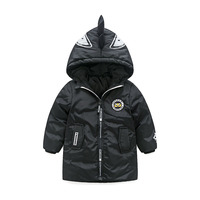 Cartoon Aimal Hooded 3 10T Kids Toddler Boys Warm Down Coat For Children White Duck Down
