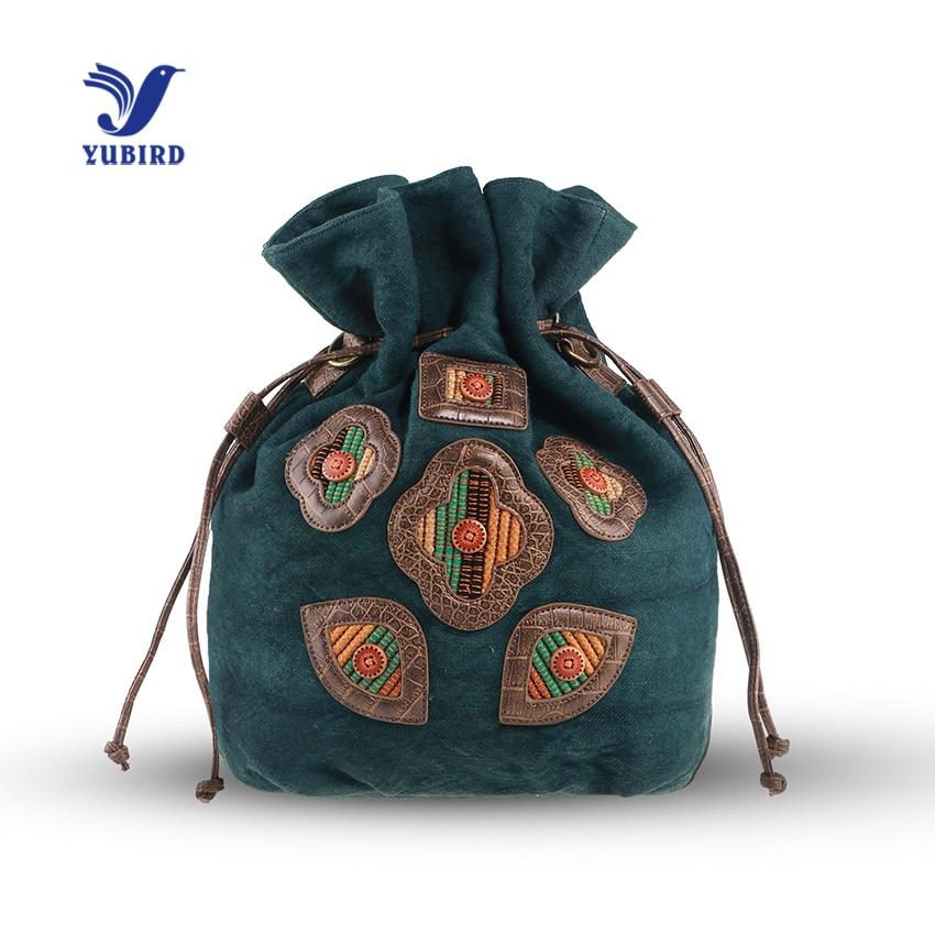 YUBIRD Vintage String Bag Backpack Women Canvas Bag korean Backpack Schoolbags Travel Vacation Fabric Bag Female
