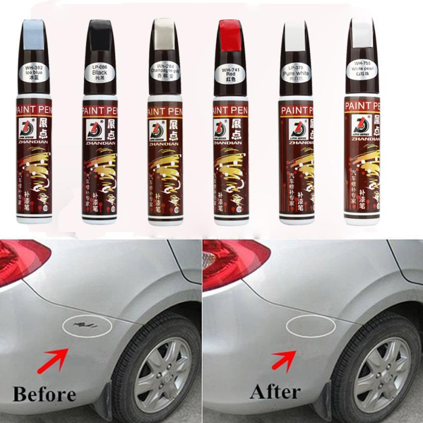 Universal Newest Best Selling 6 Colors Auto Car Coat Paint Pen Touch Up Scratch Clear Repair
