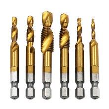Сверла для ручного крана HSS 4341 винтовые спиральные точечные резьбы M3 M4 M5 M6 M8 M10 Металлообработка с шестигранным хвостовиком набор метчиков Метрическая вилка